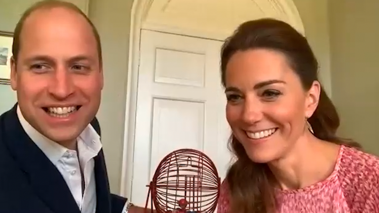 The couple were told their bingo calling left something to be desired. Pic: Kensington Palace