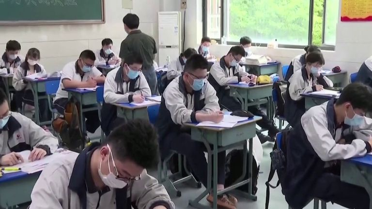 Students return to school in Wuhan