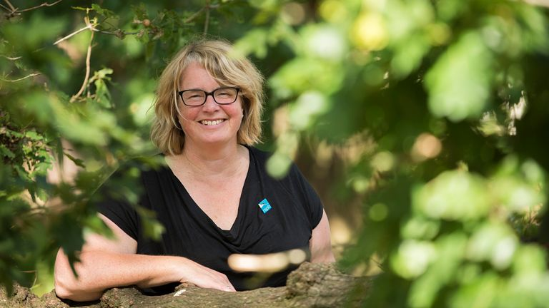 Beccy Speight, the RSPB's new Chief Executive poses for photographs around the grounds of the RSPB's headquarters, The Lodge, Bedfordshire, August 2019. Pic Ben Andrew/RSPB Images.