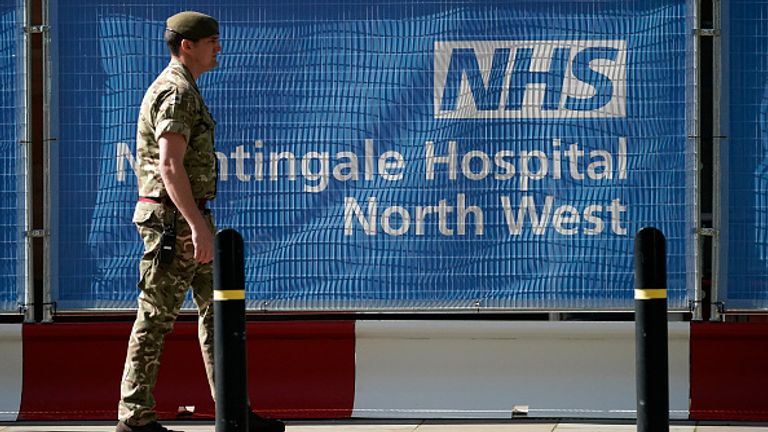 The army's COVID Support Force played a key role in setting up the nightingale hospitals