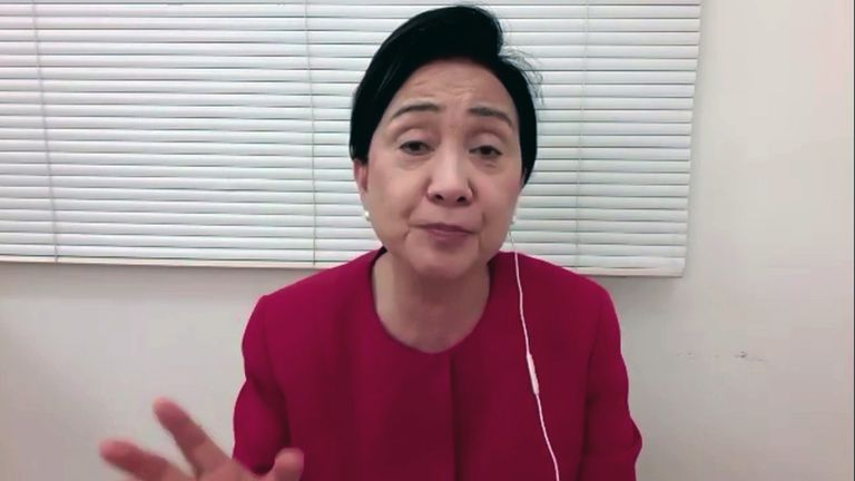 Former chairperson of the Hong Kong Democratic Party, Emily Lau.