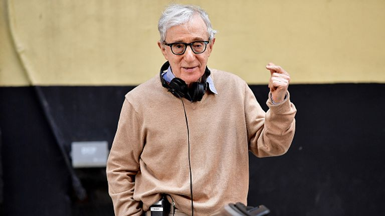 The award-winning director is pictured on set in New York in September 2017