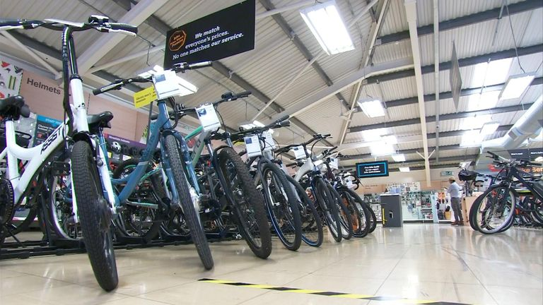 Bike sales have increased by up to 40% since lockdown began