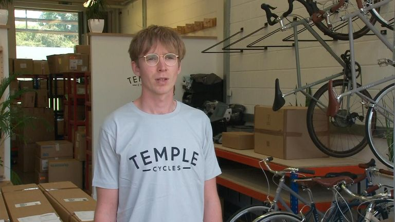 Temple Cycles founder Matthew Mears said he's seen a big spike in online traffic and sales since lockdown began.