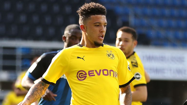 England manager Gareth says it's difficult to compare the Premier League with the Bundesliga, but says Borussia Dortmund's Jadon Sancho is progressing well