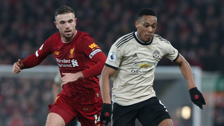 Jordan Henderson and Anthony Martial