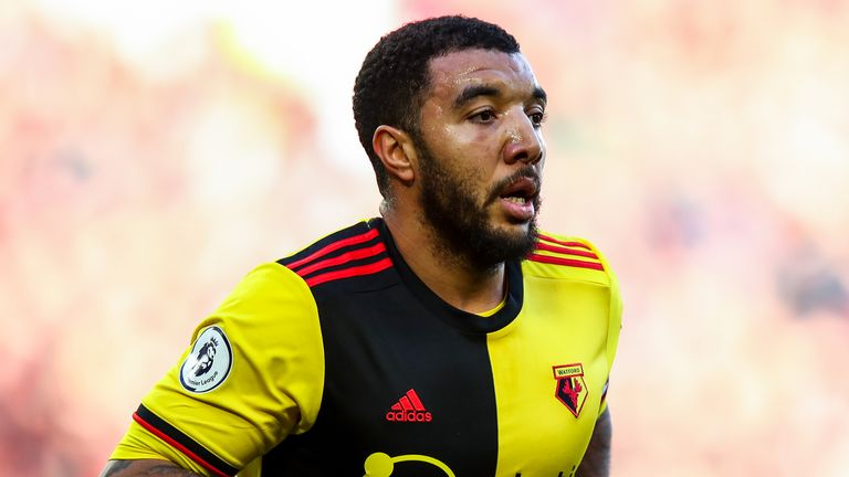 Watford's Troy Deeney during the Premier League match against Liverpool