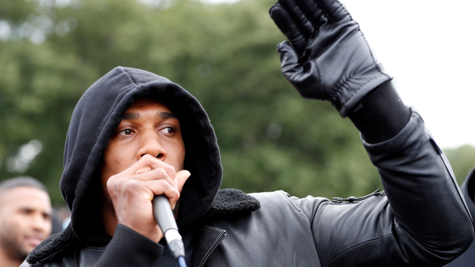 'You are the vaccine to virus of racism': Joshua gives speech to George Floyd protesters in Watford
