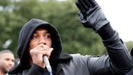 The heavyweight champion told protesters racism is a 'slower way' of killing people