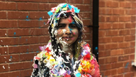 Malala took part in 'trashing' - an Oxford tradition. Pic: Twitter/ Malala