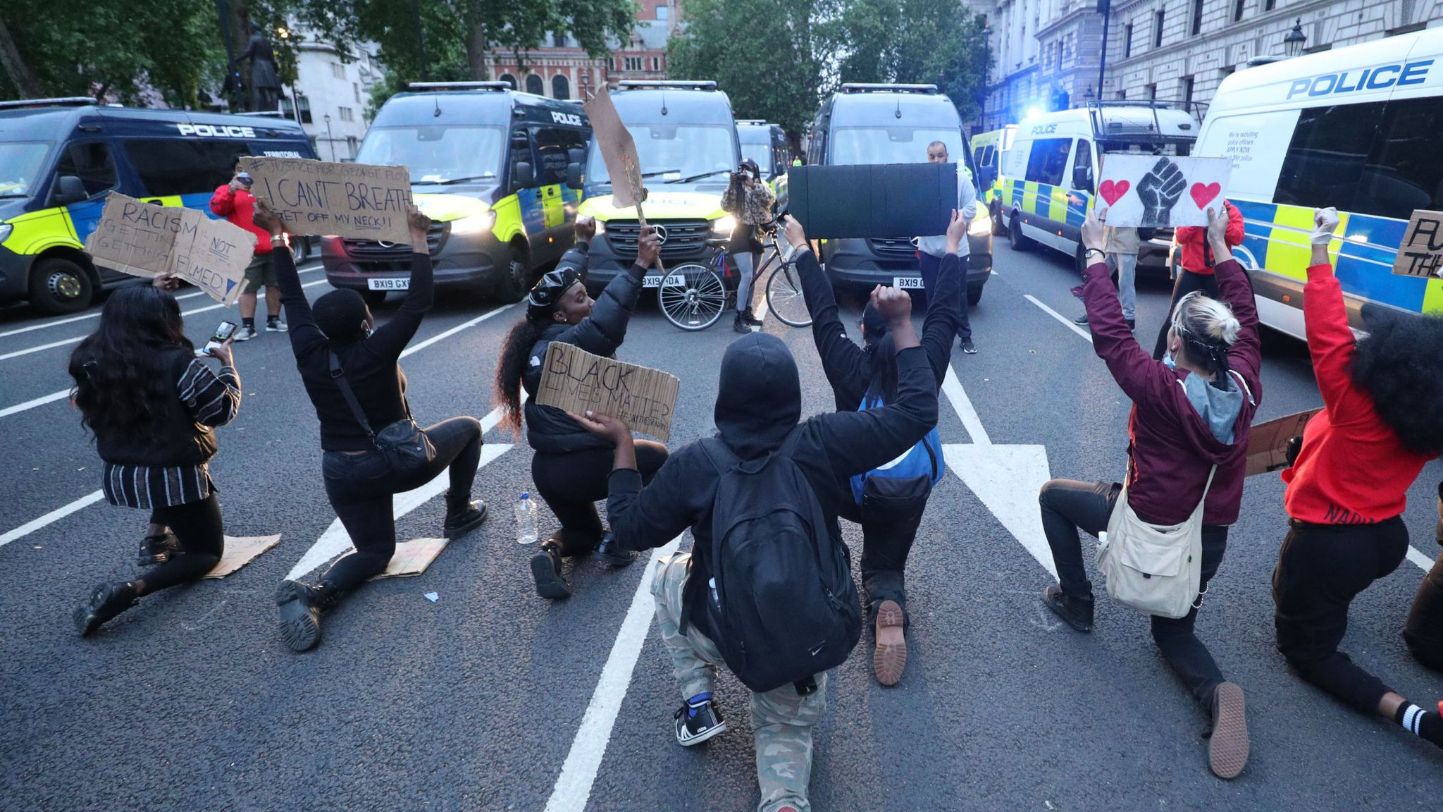 Black Lives Matter London protests: Scuffles with police mar ...