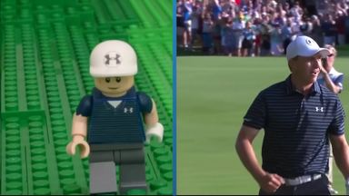 Spieth's hole-out: Lego style!