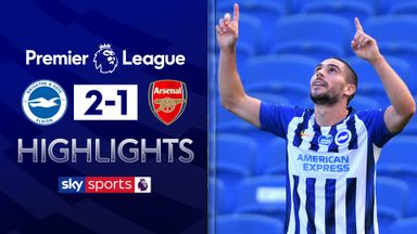 Arsenal stung by last-minute Maupay winner