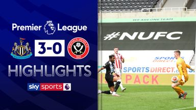 Newcastle cruise past 10-man Blades
