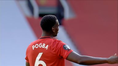 Martial fires over, after sublime Pogba skill (61)