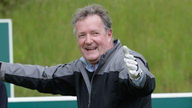 Piers Morgan impresses at golf pong!
