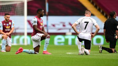 Villa and Sheff Utd players take the knee