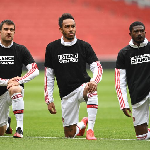 Premier League players to replace names with 'Black Lives Matter' on shirts for first 12 games of re