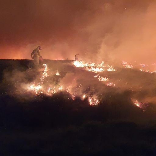 England records driest ever May as moorland burns in Lancashire