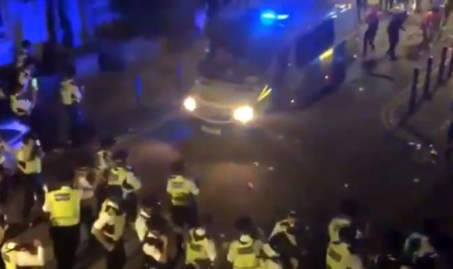 Around 140 officers injured in London during protests and illegal parties