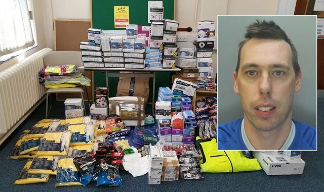 Coronavirus: Man jailed after stealing £30,000 of PPE to sell on eBay
