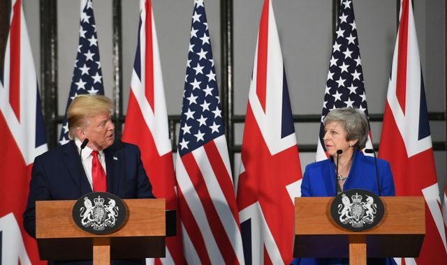 Donald Trump: Theresa May told she was 'weak' during phone call with president, report claims