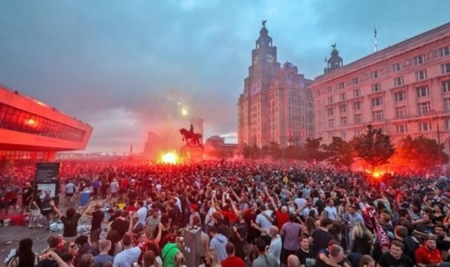 Liverpool fans condemned over 'irresponsible and criminal' behaviour during title celebrations
