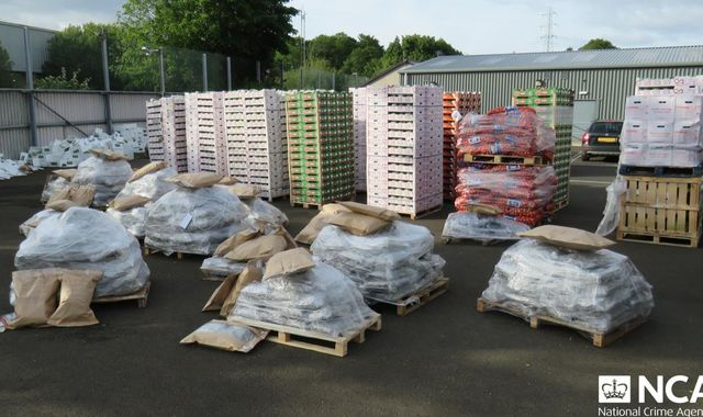 Herbal cannabis worth £12m found disguised as vegetable delivery in Northern Ireland