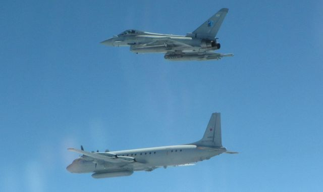RAF Typhoons intercept Russian jets over Baltic for second time in two days