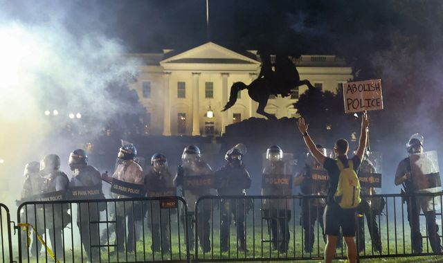 George Floyd death: Trump rushed to White House bunker as protests raged outside