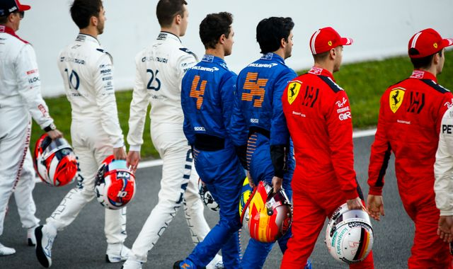 F1 drivers discussing taking a knee at F1's Austrian GP return