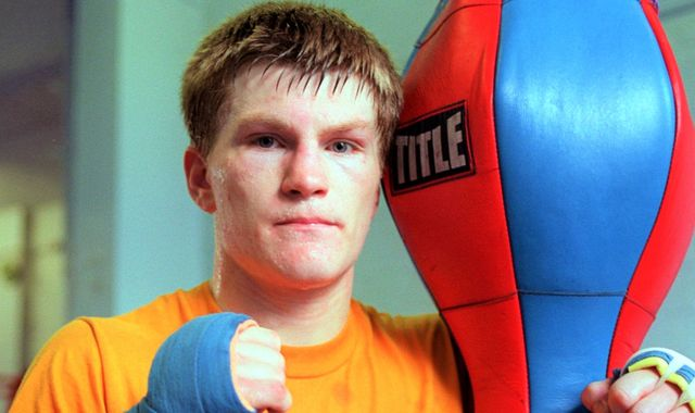 Ricky Hatton started his pursuit of a world title with a professional debut against Colin 'Kid' McAuley