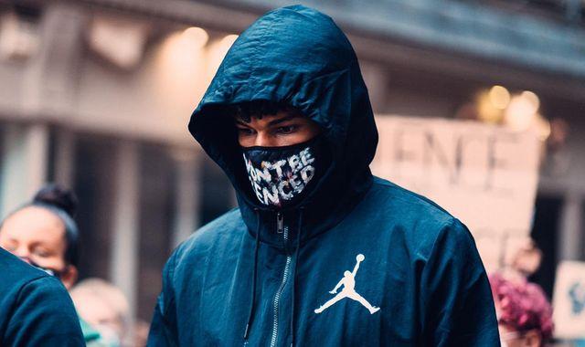 Aston Villa defender Tyrone Mings joins Black Lives Matter protest in Birmingham