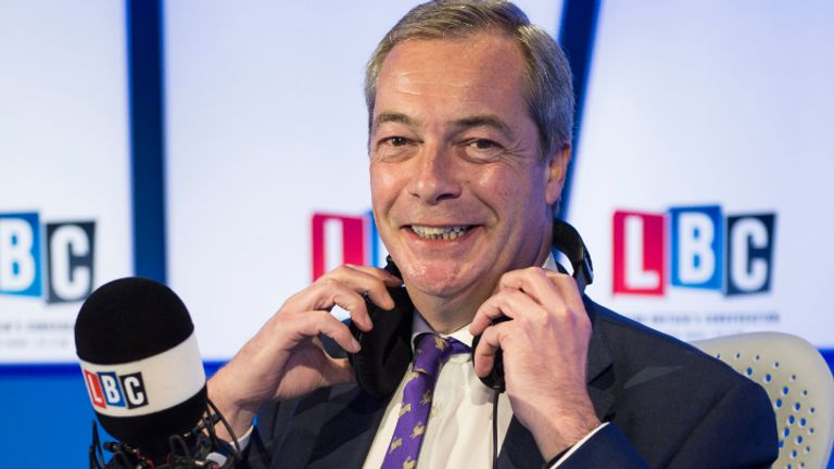 Nigel Farage will no longer host his LBC Radio show