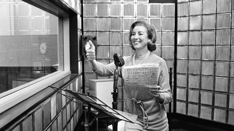 31st December 1965:  British singer Vera Lynn rehearsing her new radio show.  (Photo by McCabe/Express/Getty Images)