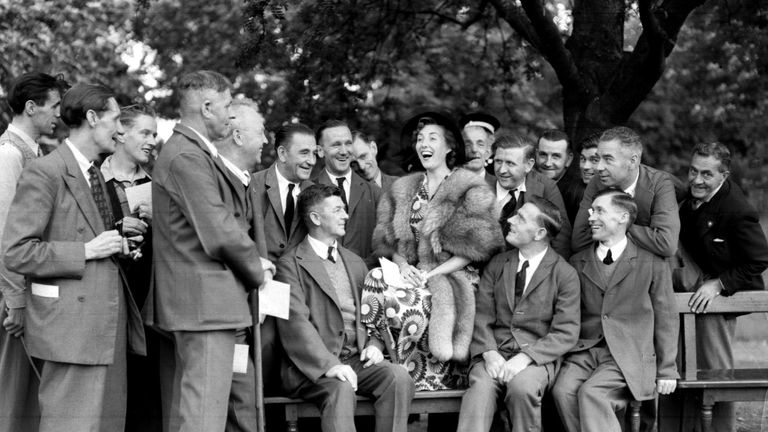 File photo dated 03/08/50 of Vera Lynn with ex-servicemen during a Garden Party held by the Queen at Buckingham Palace, London. Forces sweetheart Dame Vera Lynn has died at the age of 103.