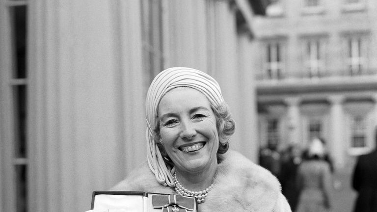 File photo dated 02/12/75 of singer Vera Lynn outside Buckingham Palace after being invested a Dame Commander of the British Empire. Forces sweetheart Dame Vera Lynn has died at the age of 103.
