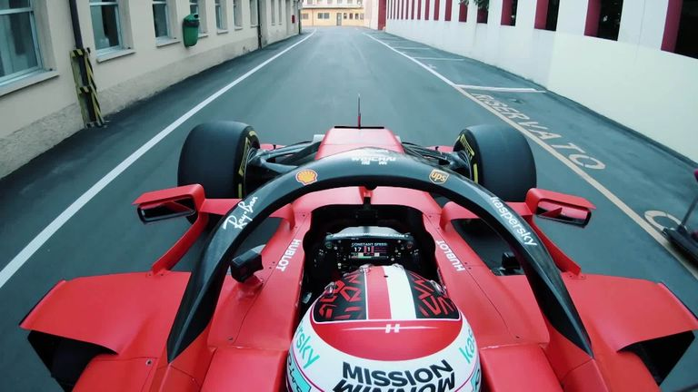 Leclerc drives Ferrari's SF1000 on Maranello's streets