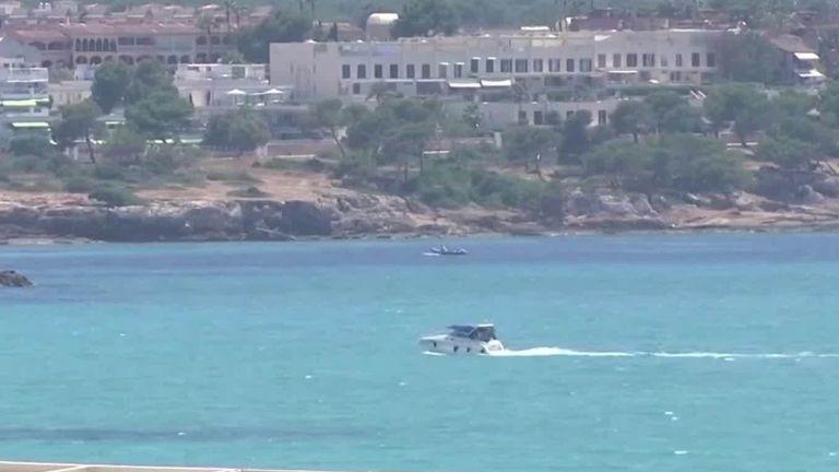 German tourists visit the Balearic islands