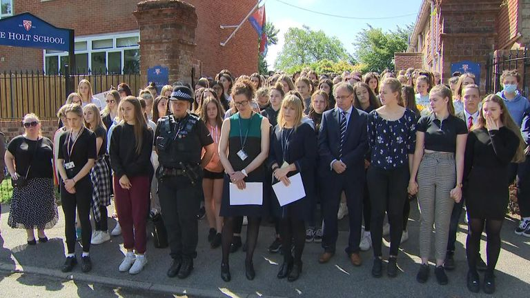 Minute silence at Holt School to remember teacher killed in terror attack in Reading