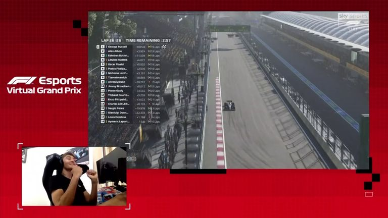 George Russell is on a roll in F1's Esports series, and won last time out again in virtual Baku
