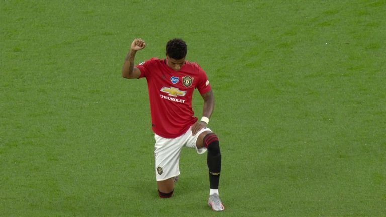 Spurs And Man Utd Take The Knee Video Watch Tv Show Sky Sports
