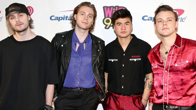 (L-R) Michael Clifford, Luke Hemmings, Calum Hood, and Ashton Irwin