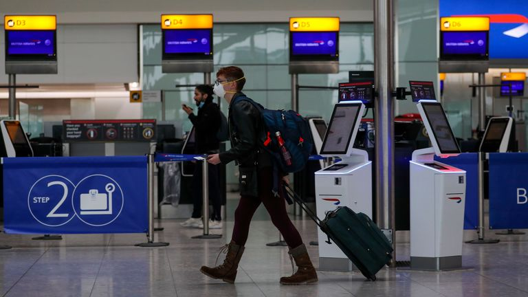International travellers will be quarantined for two weeks
