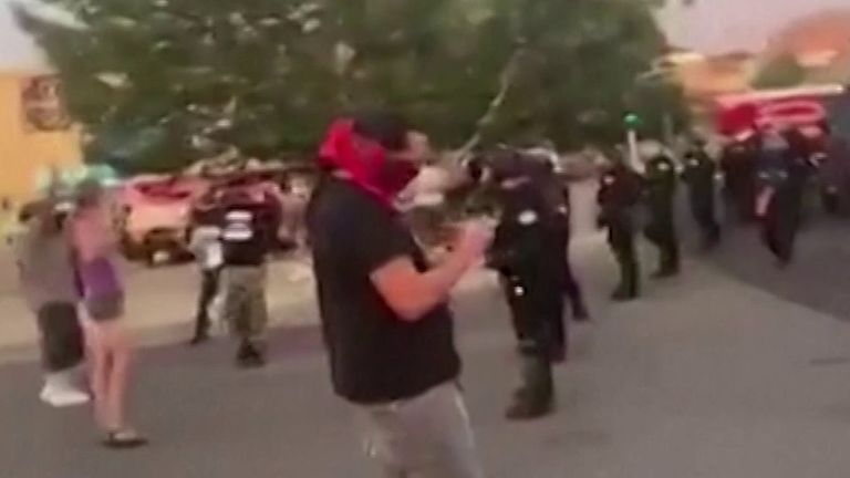 Confusion as shots are fired during Albuquerque protests