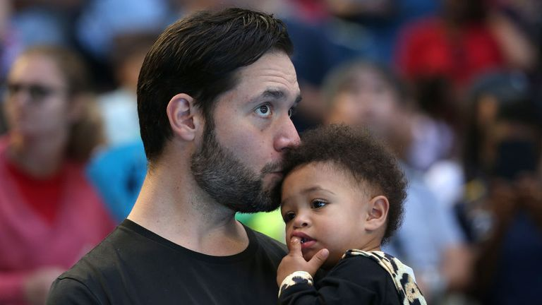 Alexis is pictured with his daughter Alexis Olympia Ohanian Jr