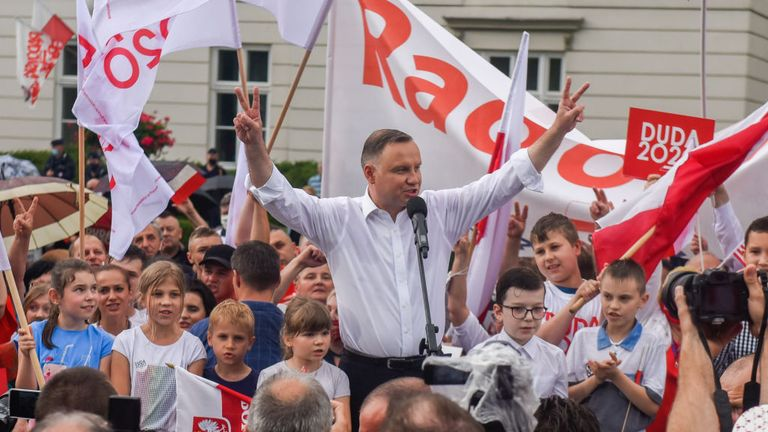 Andrzej Duda, the ruling President of Poland