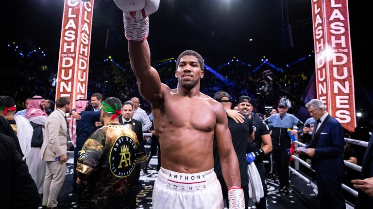 Anthony Joshua defeated Andy Ruiz in December last year