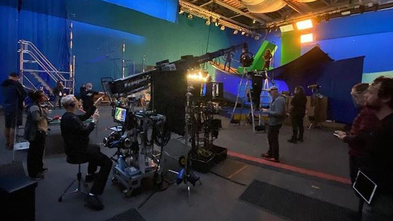 Jon Landau took this photo on the set. Pic: jonplandau/Instagram