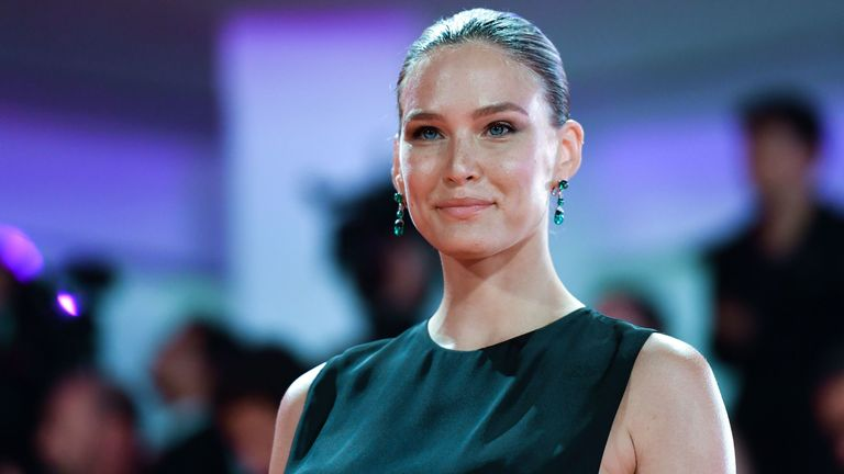 "Israeli model Bar Refaeli arrives on August 29, 2019 for the screening of the film ""Ad Astra"" during the 76th Venice Film Festival at Venice Lido. (Photo by Alberto PIZZOLI / AFP) (Photo credit should read ALBERTO PIZZOLI/AFP via Getty Images)"